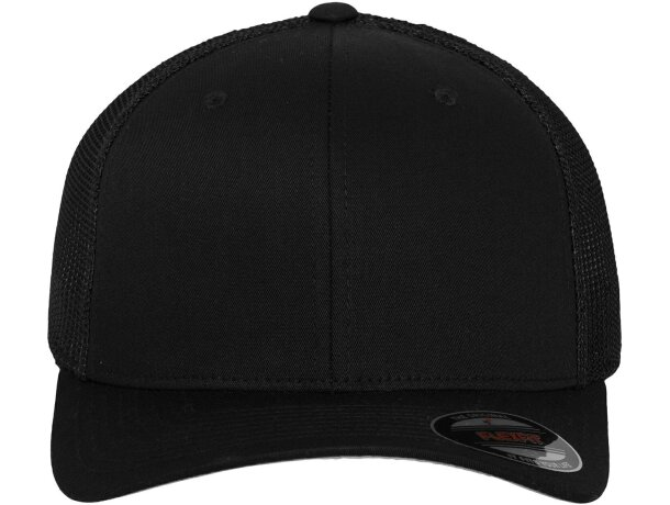 Gorra con acabado de sarga y rejilla personalizada negra