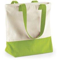 Bolsa de lona de algodón con cremallera personalizada natural
