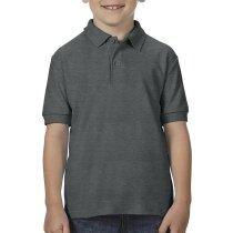 Polo manga corta de niños tejido mixto 205 gr personalizado gris