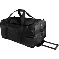 Bolsa impermeable con ruedas con logo negra