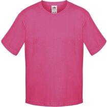 Camiseta de niño 100% algodón fucsia