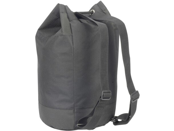 Bolsa petate con doble correa para el hombro personalizada negra