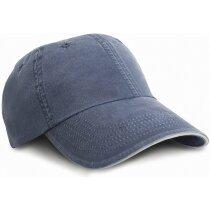 Gorra fabricada en sarga con cierre ajustable personalizada azul marino