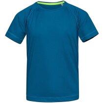 Camiseta técnica para niños 140 gr azul royal