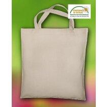 Bolsa de algodón orgánico de color liso