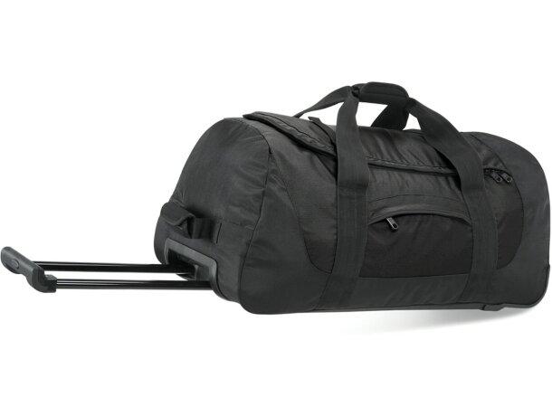 Bolsa con ruedas resistentes negra personalizado