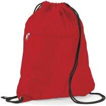Mochila saco de poliéster de excelente calidad roja personalizado