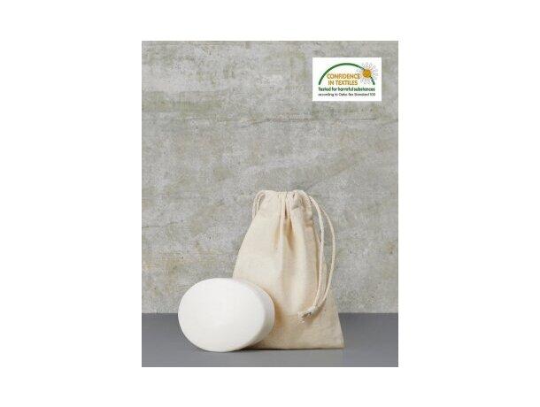 Bolsa mediana de algodón con cordón ajustable