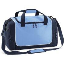 Bolsa deportiva ideal para taquilla de vestuario grabada azul claro