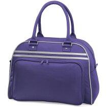 Bolsa de viaje retro tipo bolos personalizada lila