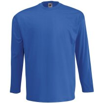 Camiseta manga larga Value Weight de Fruit of the loom 165 gr azul royal