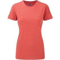 Camiseta de mujer blanca 155 gr naranja