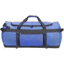 Bolsa de viaje y deporte impermeable personalizada azul