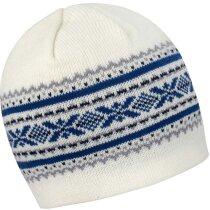 Gorra de poliester acabado lana decorado personalizada blanco/azul