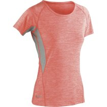 Camiseta manga corta técnica combinada de mujer 180 gr