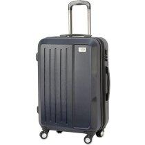 Maleta trolley resistente de plástico abs barata azul marino