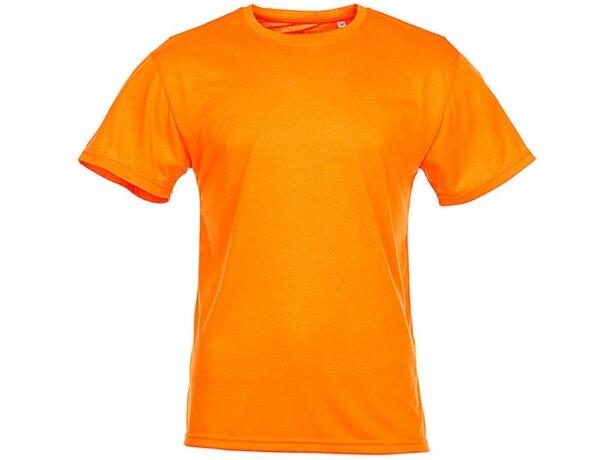 Camiseta técnica de hombre 160 gr naranja