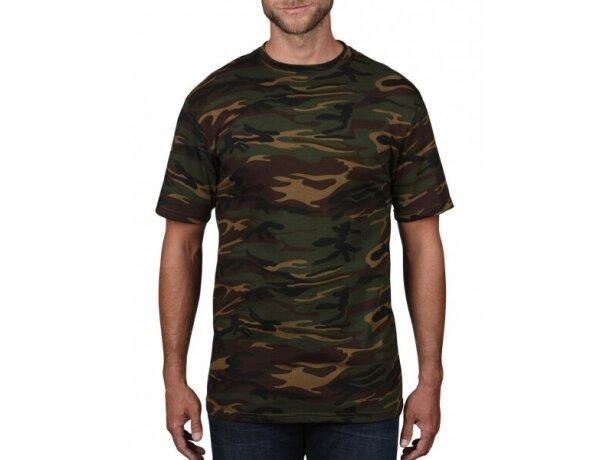 Camiseta de manga corta camuflaje