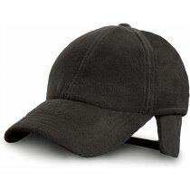 Gorra especial hecha con forro polar y orejeras personalizada negra