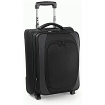 Maleta de cabina con bolsillo para portátil personalizada negra