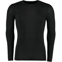 Camiseta manga larga tejido técnico unisex 140 gr negra