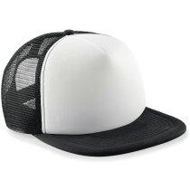 Gorra con rejilla combinada para niños personalizada negra