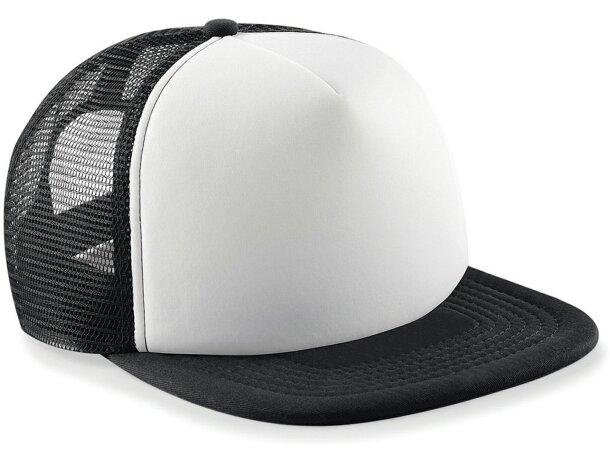 Gorra con rejilla combinada para niños personalizada negra 670c0a4fd1d