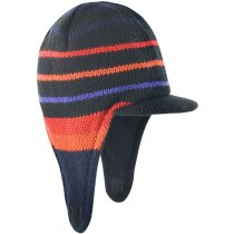 Gorra con orejeras y detalles de color personalizada marino/rojo