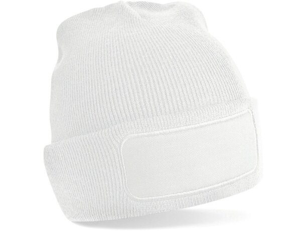 Gorro polar fabricado en poliester blanco