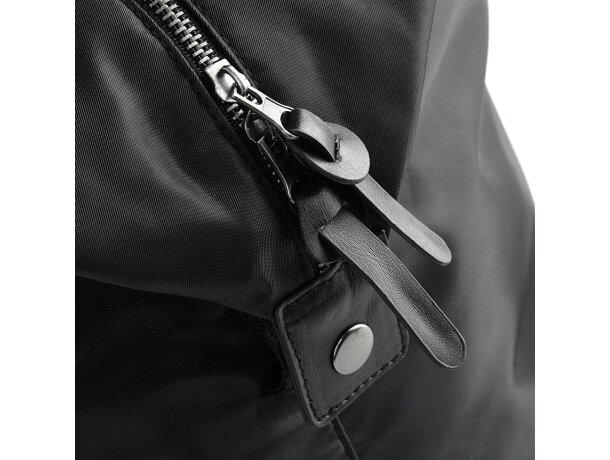 Bolsa de viaje o deporte con cremallera maxi negra barato