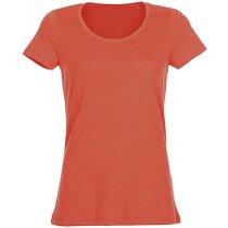 Camiseta lisa de mujer 135 gr con logo naranja