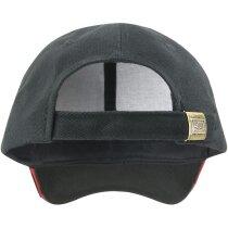 Gorra en algodón de 300 gr con cierre de netal personalizada negro/rojo