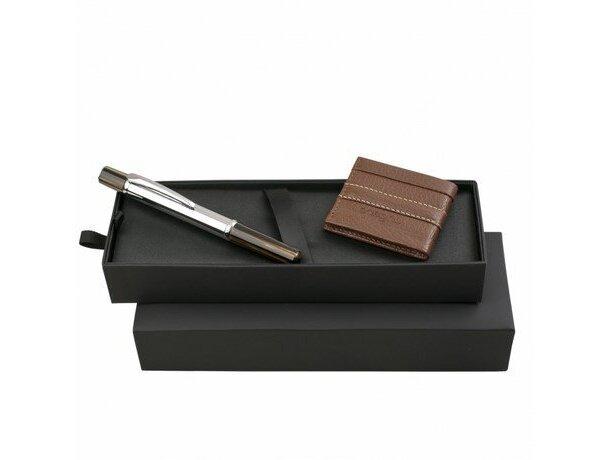 conjunto moderno de cartera y roller en marrón Ungaro personalizado