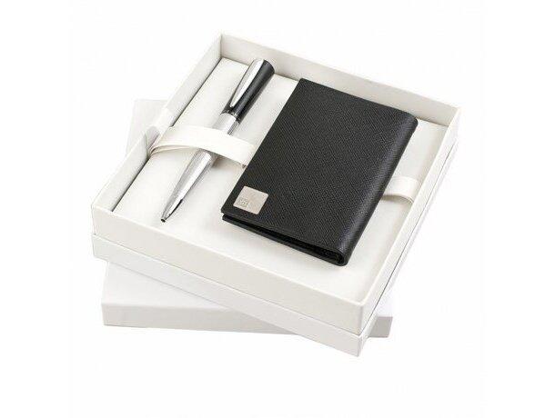Estuche con cartera y bolígrafo a juego de la marca Nina Ricci personalizado