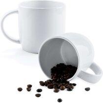 Taza de cerámica lisa 380 ml grabada
