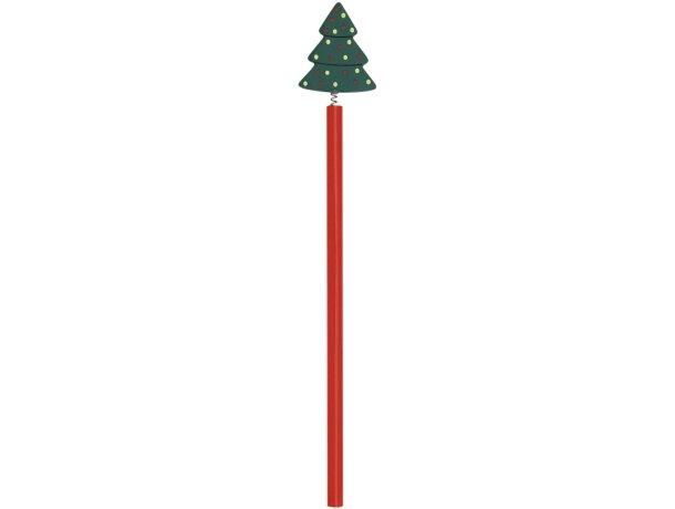 Lápiz de madera navideño personalizado