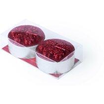 Set de dos velas decoradas personalizado rojo