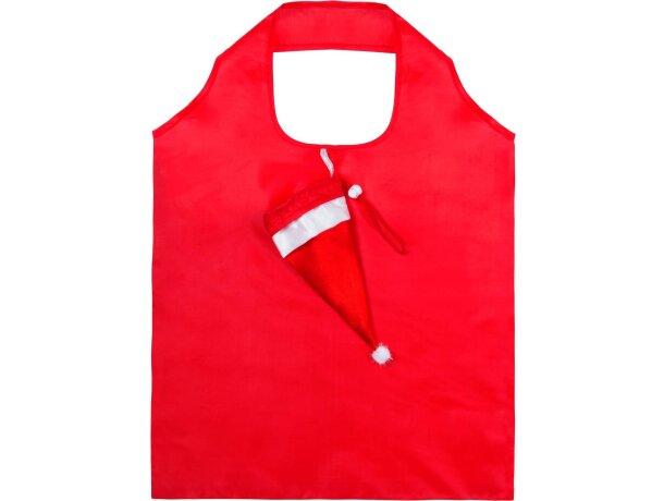 Bolsa Plegable navideña con forma de gorro Papa Noel
