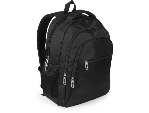 Mochila con bolsillo acolchado para ordenador negra
