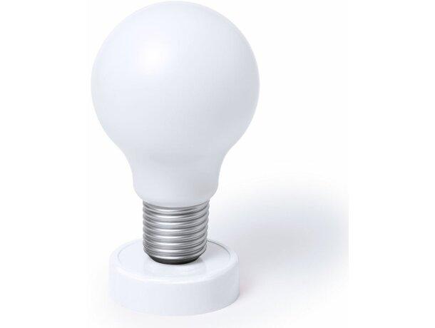 Lámpara con forma bombilla blanca