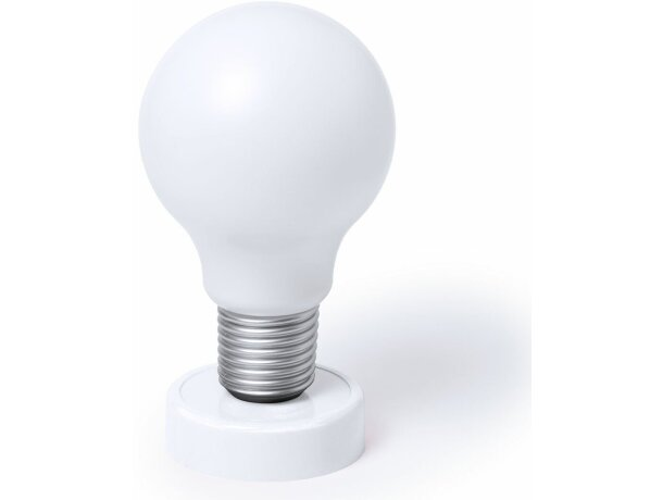 Lámpara con forma bombilla personalizada blanca