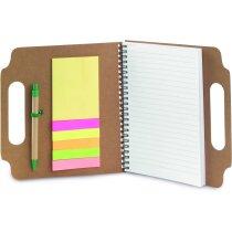 Libreta con tapas y notas adhesivas personalizado