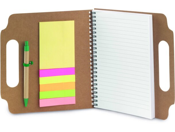 Libreta con tapas y notas adhesivas personalizada