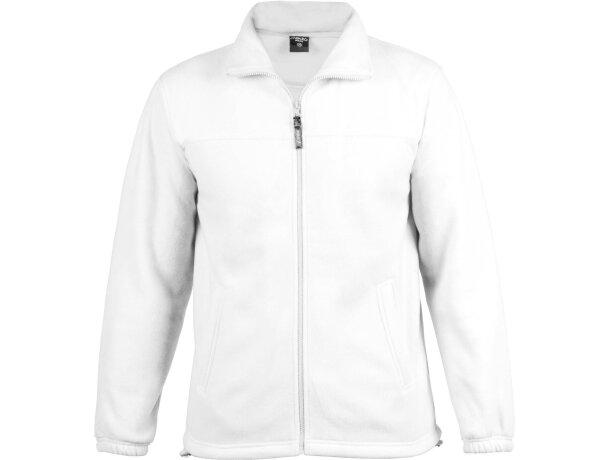 Chaqueta polar 300 gr personalizada blanca