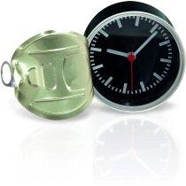 Reloj de sobremesa en lata personalizado negro