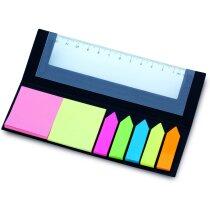 Regla con notas adhesivas personalizada