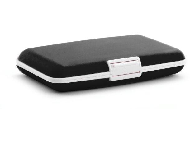 Tarjetero de plastico y silicona personalizado negro