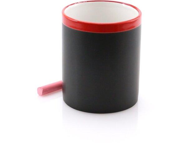 Taza pizarra promocional con tizas de colores barata