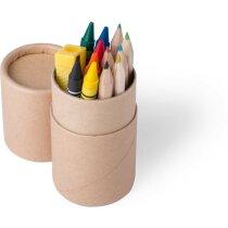 Set con ceras y lápices grabada