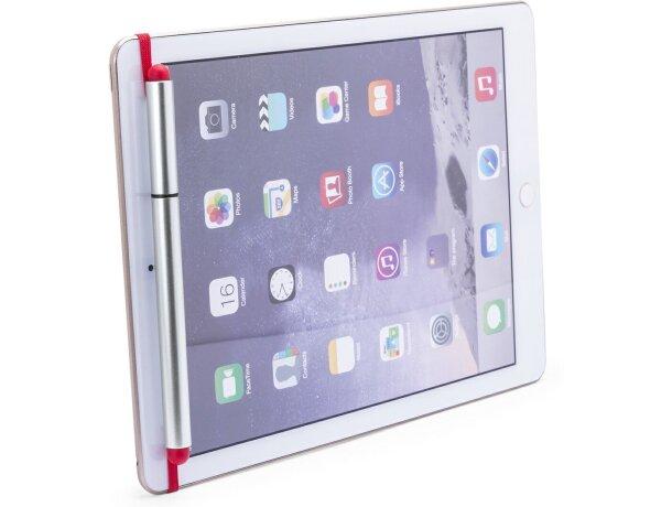 Bolígrafo ajustable en móvil o tablet rojo